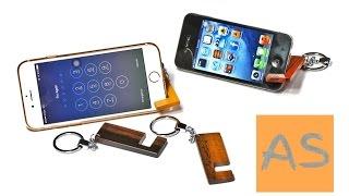 Деревянная подставка БРЕЛОК под смартфон. СВОИМИ РУКАМИ. Wooden stand KEYBOARDS for smartphoneИ.