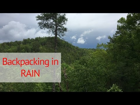 Backpacking in the RAIN! Abrams Falls in the Smoky Mountains