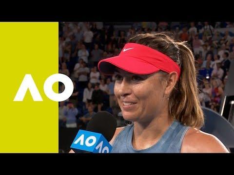 Maria Sharapova on-court interview (3R) | Australian Open 2019