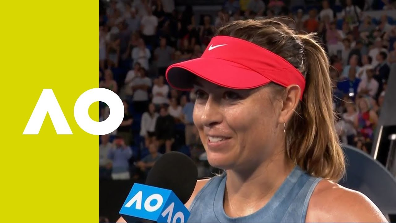 Maria Sharapova on-court interview (3R) | Australian Open ...