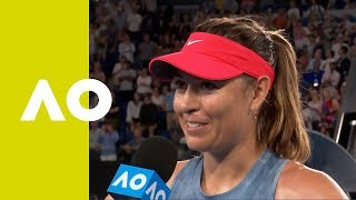 Maria Sharapova on-court interview (3R) | Australian Open 2019