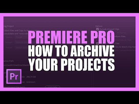 Archive Projects In Premiere CC Using The Project Manager