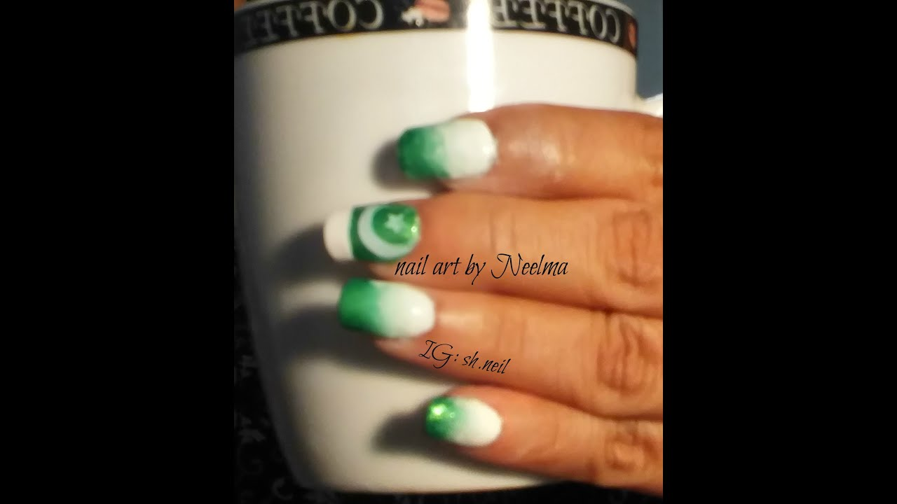 Pakistan Independence Day Nail Art For 14th August Youtube
