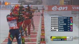 Биатлон Женщины Гонка преследования 10 км. 1 декабря 2013 г. Эстерсунд Швеция