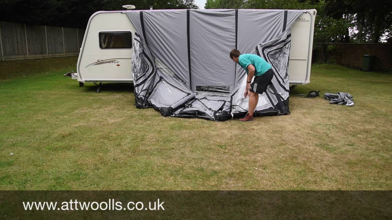 How To Pitch A Inflatable Awning Tutorial Video Youtube