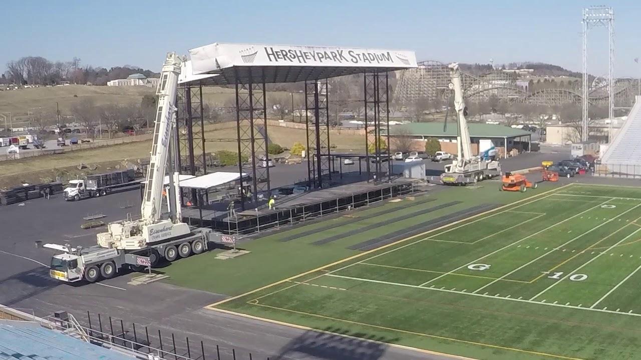 Timelapse Deconstruction Of The Hersheypark Stadium Stage