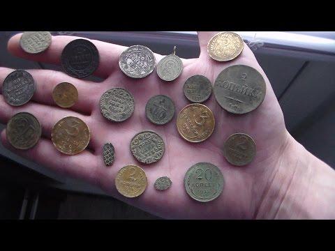 видео: можно ли заработать с металлоискателем,на поиске монет!!!