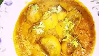 Aloo Gathi Kochur Dom || A traditional smack licking Bengali Recipe in an Innovative style ||