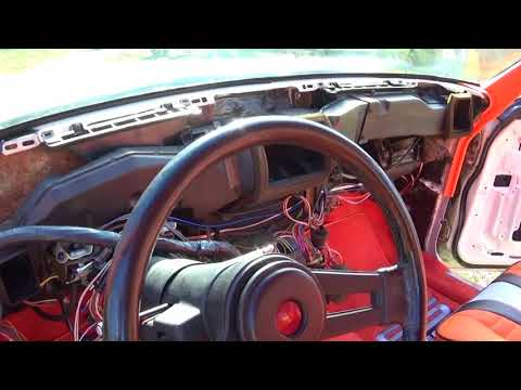 1986 Monte Carlo SS Part 5 Dash Removed And All Interior Trim Wrapped