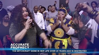 Ps Alph LUKAU prays and a panty stolen 25years ago for witchcraft appears in church