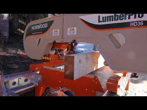 Extreme Sawmilling High in the Rockies of Colorado with the Norwood LumberPro HD36