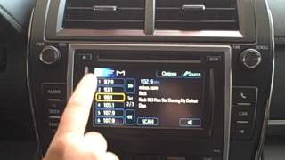 How to set your favorite radio stations on Toyota