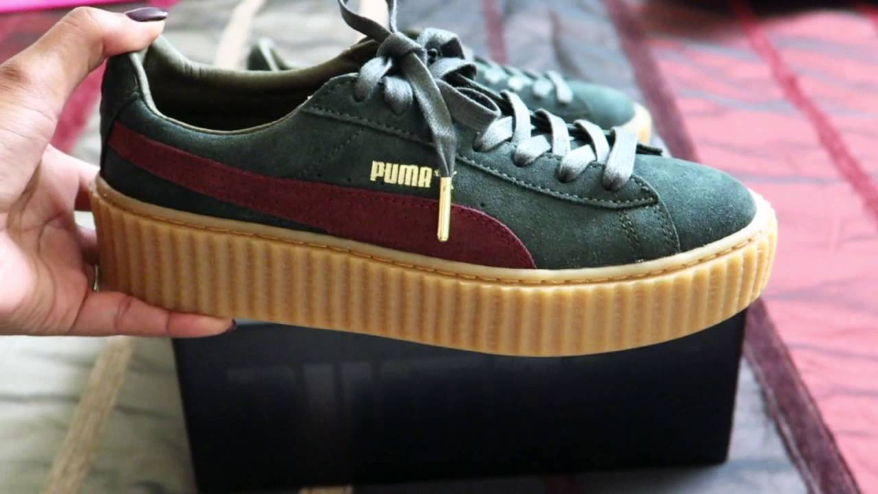 puma creepers green