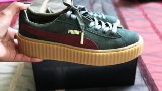 fenty puma creepers green