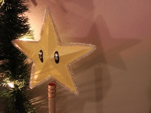 super mario star tree topper diy geeky goodies