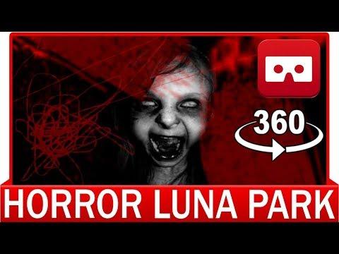 360° VR 4k - HORROR Luna Park Halloween - VIRTUAL REALITY 3D