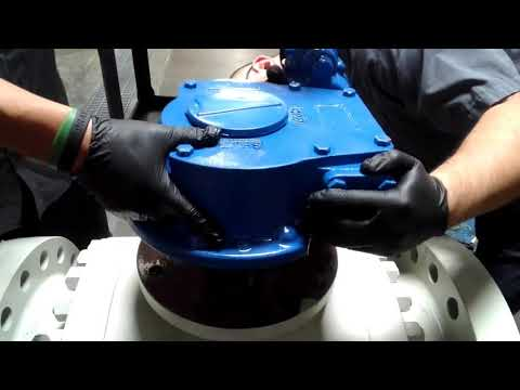 Installing a GearBox on a Trunnion Ball Valve