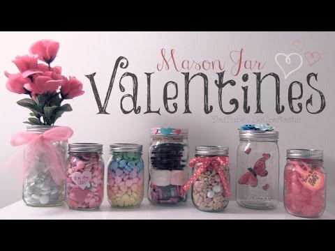 Diy mason jar valentines easy gifts room decor how for Room decor gifts