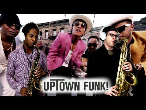 UPTOWN FUNK! - Mark Ronson & Bruno Mars - Tenor & Alto Sax Cover - BriansThing & Jacob Scesney