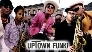 UPTOWN FUNK! - Mark Ronson & Bruno Mars - Tenor & Alto Sax Cover - BriansThing & Jacob Scesney