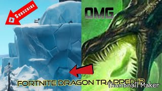 Fortnite Polar Peak Dragon Creature Heavy Breathing Coming out of Ice berg theory Dragon Return ?