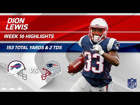 Dion Lewis' 153 Total Yards & 2 TDs vs. Buffalo! | Bills vs. Patriots | Wk 16 Player Highlights