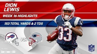 Dion Lewis' 153 Total Yards & 2 TDs vs. Buffalo! | Bills vs. Patriots | Wk 16 Player Highlights