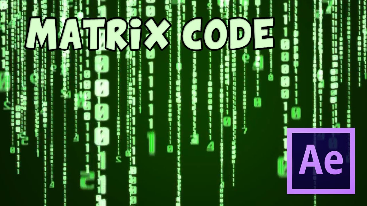 Tutorial after effects effetto matrix code youtube baditri Images