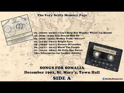 Audio Cassette: Songs For Somalia (1992) - SIDE A (December, 1992, St. Mary's Isles Of Scilly)