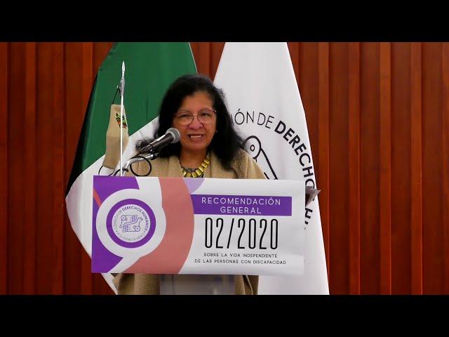 Discurso de Nashieli Ramírez, Presidenta de #CDHCM, en Presentación Recomendación General 02/2020