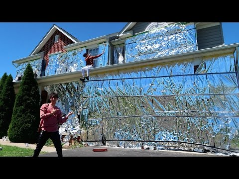 Thumbnail: INSANE ALUMINUM FOIL PRANK ON HOUSE!