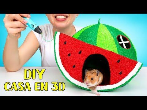 Una casa 3D en forma de sandía para tu hamster