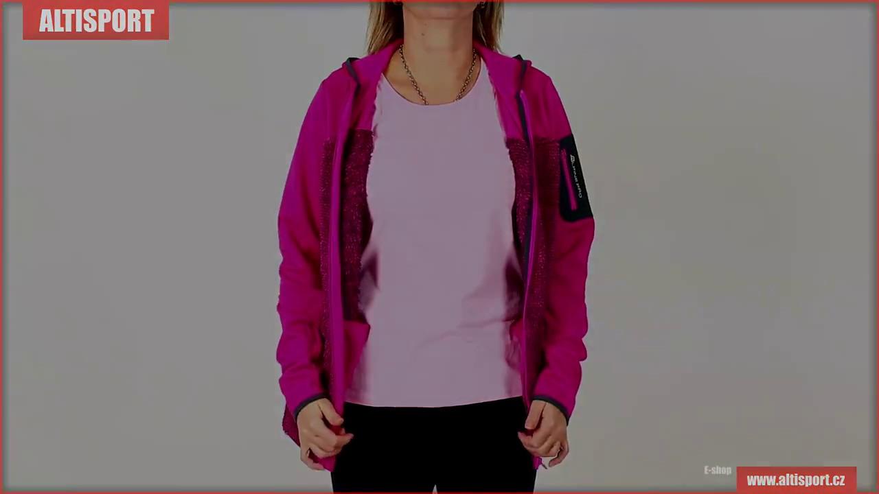 dámská mikina s kapucí alpine pro moosa 2 lswk096 růžová - YouTube c6f704e40f6