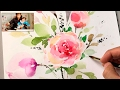 [LVL4] How to Paint Flowers with Watercolor | Step by Step Tutorial