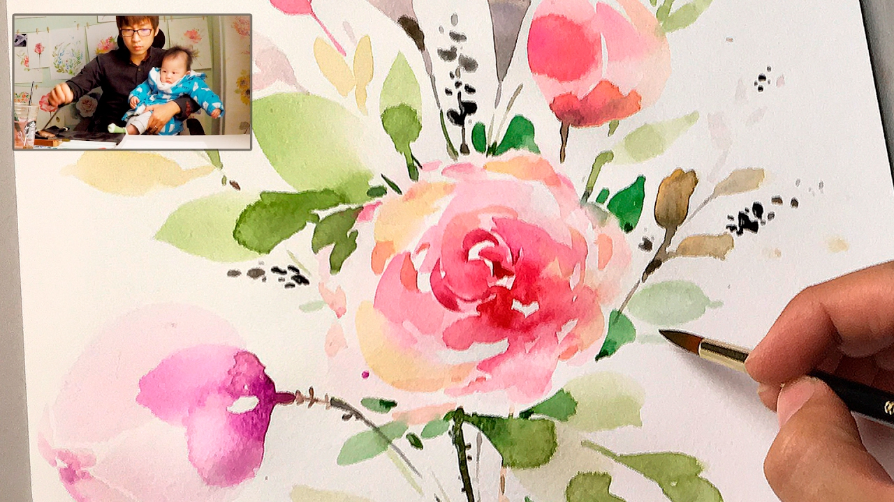 Lvl4 How To Paint Flowers With Watercolor Step By Step Tutorial