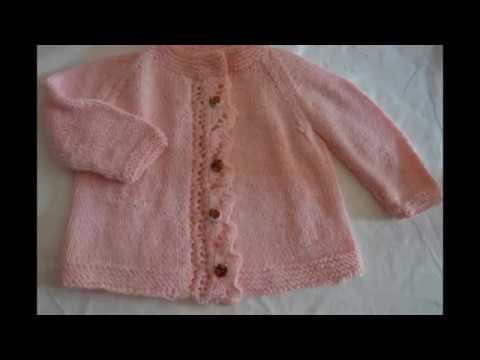 Giacchina bimba con maniche raglan lavorata a maglia taglia 12 mesi ... e81283cfb9c2