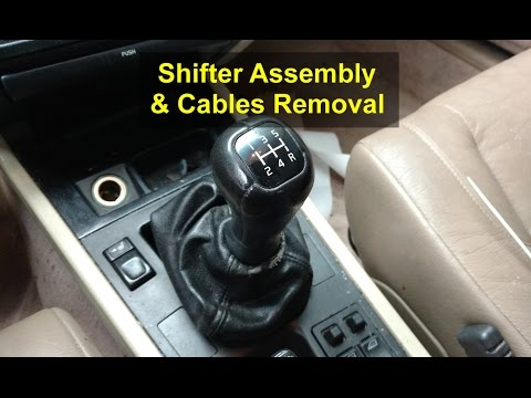 Shifter assembly and cables removal for manual transmission, Volvo 850, S70, V70, etc. - VOTD