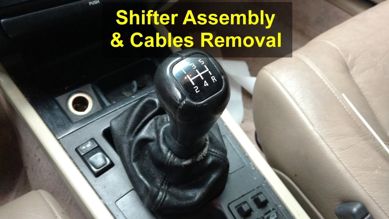 Shifter assembly and cables removal for manual transmission, Volvo 850, S70, V70, etc  VOTD