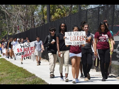 Students walk out across South Florida on Columbine Anniversary