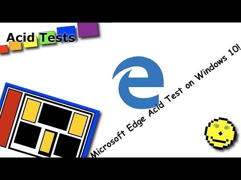 Microsoft edge acid test