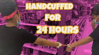 24 HOURS HANDCUFFED TO MY SISTER *went horrible*