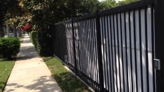 Toluca Lake Celebrity Home Iron And Wood Residential Gate