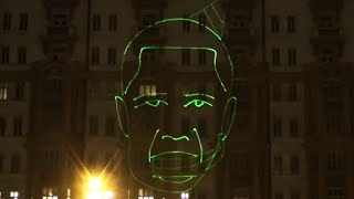 Russians mock Obama with laser show on U.S. Embassy