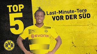 Top 5 Last-Minute Borussia Dortmund Home Goals! | ⚽️| Batshuayi, Dede and Co.