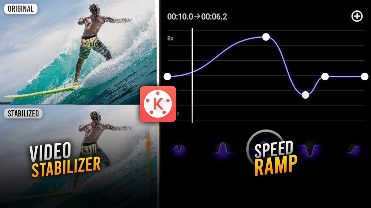 Fitur Baru KineMaster! Video Stabilizer dan Speed Ramp (time remapping) | KINEMASTER TUTORIAL #49