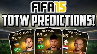 FIFA 15 TOTW 20 Predictions! - Ft. SIF Neymar, SIF Sneijder, IF Diego Alves & More!