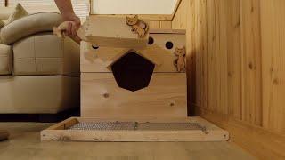 고양이 뒷간 3종 세트 만들기(고양이 화장실)
