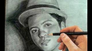 How to Draw Bruno Mars Step by Step (Portrait)