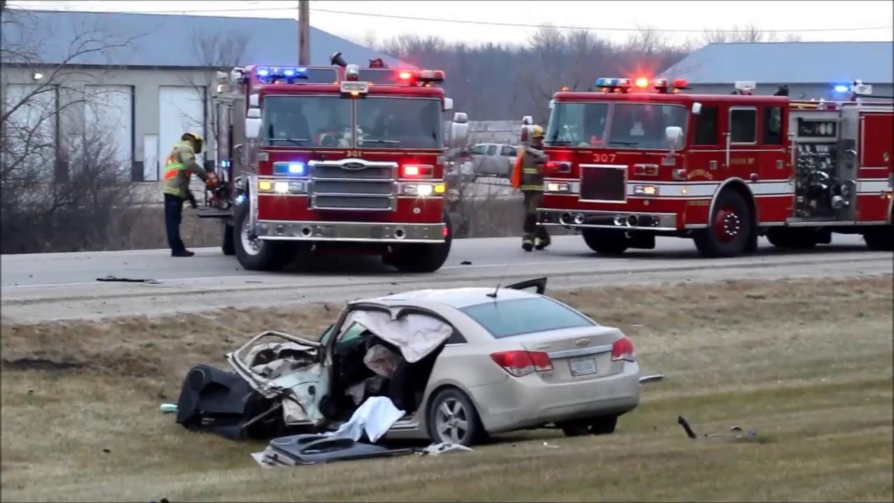 Semi crash, Sergeant Road, Waterloo, Iowa Dec. 21, 2017