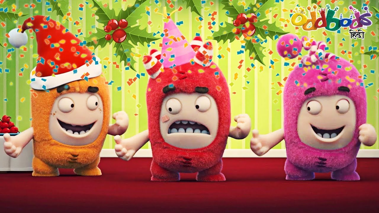 Christmas Party Images Cartoon.Oddbods Christmas Party क र समस प र ट Funny Cartoons For Children